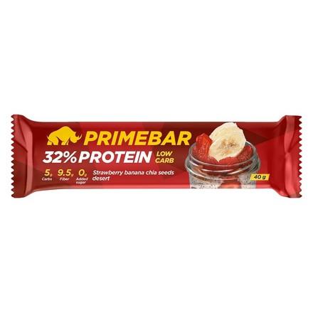 Primebar, Протеиновый батончик «Клубнично-банановый десерт с семенами чиа», 40 г