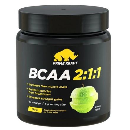 Prime Kraft, Аминокислоты BCAA 2:1:1 «Зеленое яблоко», 150 г