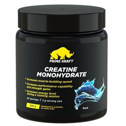 Prime Kraft, Креатин «Моногидрат», без вкуса, 200 г