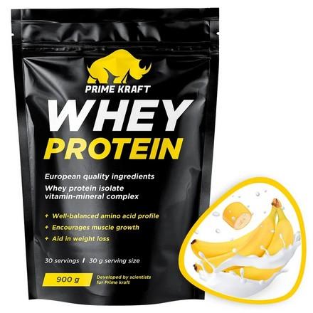 Prime Kraft, Сывороточный протеин «Банановый йогурт», 900 г