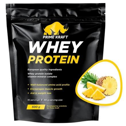 Prime Kraft, Сывороточный протеин «Ананасовый фреш», 500 г
