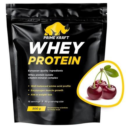 Prime Kraft, Сывороточный протеин «Дикая вишня», 500 г