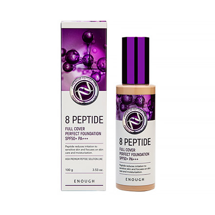 Enough, Тональный крем 8 Peptide Full Cover №21, SPF 50, 100 мл