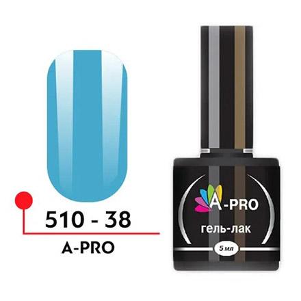 Гель-лак A-PRO голубой глянцевый
