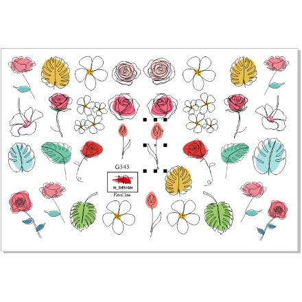 N-DESIGN, Слайдер-дизайн G-343, Floral Line