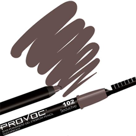 Provoc, Eye Brow Liner 102 Seductive, Цвет Коричневый