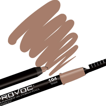 PROVOC, Eye Brow Liner 104 Tease, Цвет Светло-коричневый