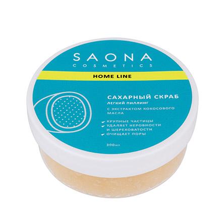Saona Cosmetics, Скраб-пилинг, кокос и миндаль, 300 мл