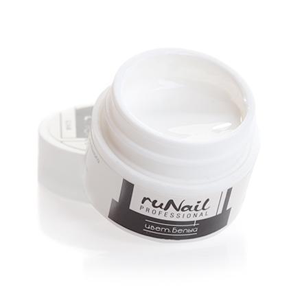 ruNail, УФ-гель цветной (Белый, White), 7,5 г