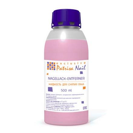 Patrisa Nail, Жидкость для снятия лака, без ацетона, 500 мл (УЦЕНКА)