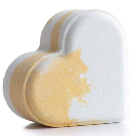 Fabrik Cosmetology, Бомбочка для ванны «Сердце», лимонный смузи, 110 г
