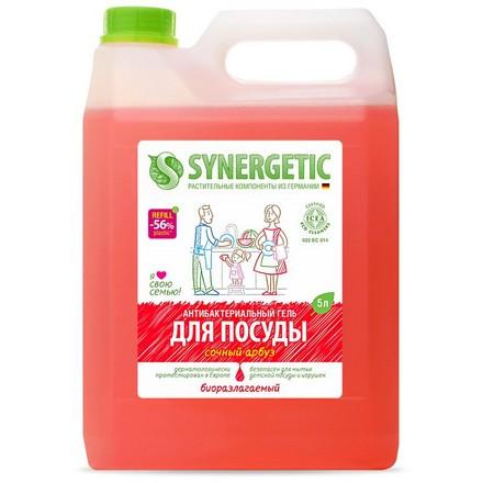 Synergetic, Гель для мытья посуды «Сочный арбуз», 5 л