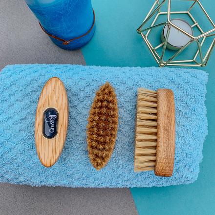 Grosheff, Щетка для бороды овальная Small, щетина кабана