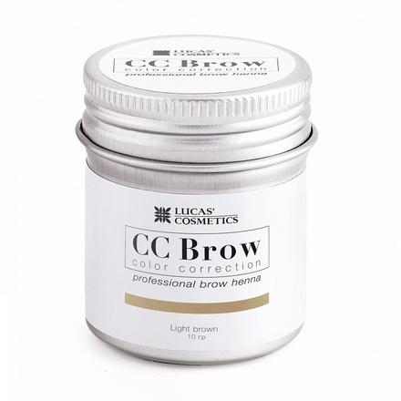 Lucas' Cosmetics, Хна для бровей CC Brow, светло-коричневая, в баночке, 10 г