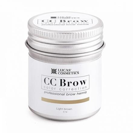 Lucas' Cosmetics, Хна для бровей CC Brow, светло-коричневая, в баночке, 5 г