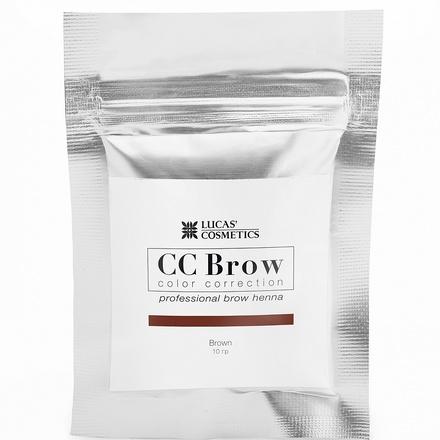 Lucas' Cosmetics, Хна для бровей CC Brow, коричневая, в саше, 10 г