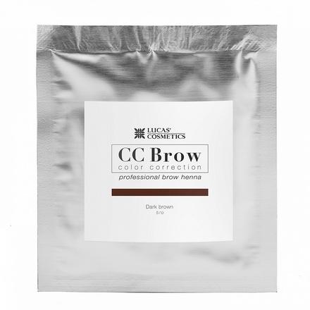 Lucas' Cosmetics, Хна для бровей CC Brow, темно-коричневая, в саше, 5 г