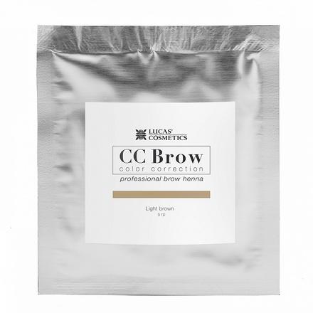 Lucas' Cosmetics, Хна для бровей CC Brow, светло-коричневая, в саше, 5 г (УЦЕНКА)