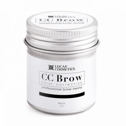 Lucas' Cosmetics, Хна для бровей CC Brow, черная, в баночке, 5 г (УЦЕНКА)