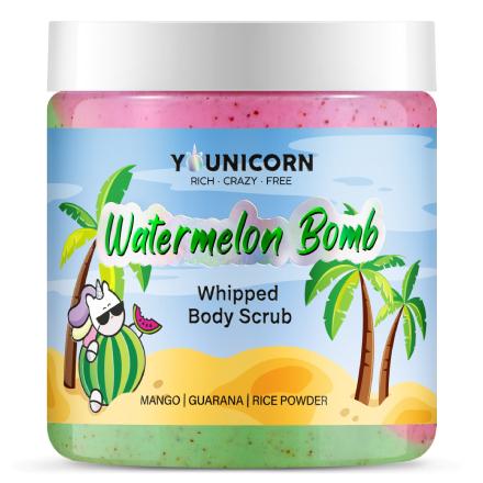 Younicorn, Крем-скраб для тела Watermelon Bomb, 250 мл