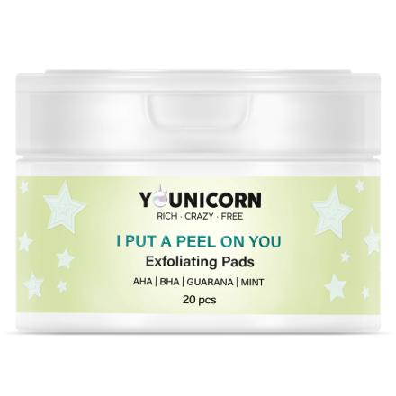 Younicorn, Пилинг-диски для кожи лица, 25 шт