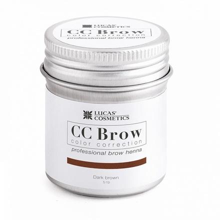 Lucas' Cosmetics, Хна для бровей CC Brow, темно-коричневая, в баночке, 5 г (УЦЕНКА)