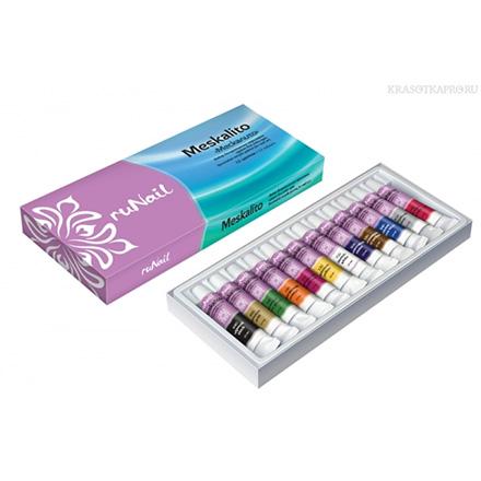 ruNail, набор декоративных акриловых красок для нейл арта «Meskalito» (УЦЕНКА)