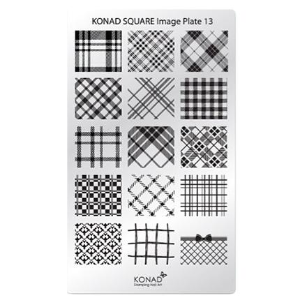 Konad, Пластина для стемпинга Square Image Plate №13, Ткань
