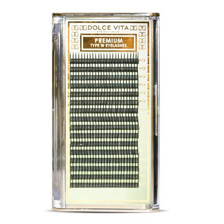 Dolce Vita, Ресницы в ленте W-объем Special Deluxe 0.15 B натуральный изгиб mix