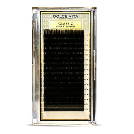 Dolce Vita, Ресницы в ленте Classic Mink Deluxe 0,15/12 B натуральный изгиб