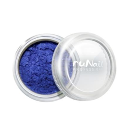 ruNail, Пигмент №1160, синий, перламутровый