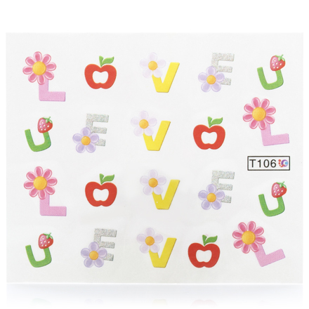 Слайдер-дизайн для ногтей LOVE