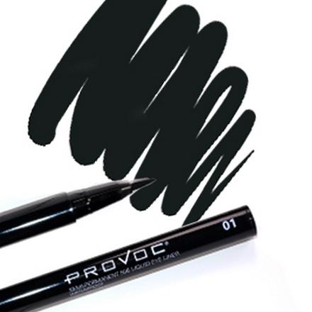 Provoc, Nib Liquid Eye Liner 01 Little Black Dress, Цвет черный