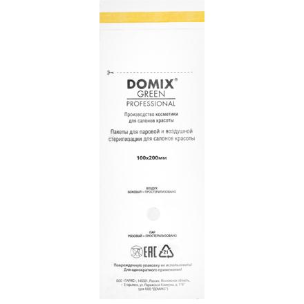 Domix, Крафт-пакеты для стерилизации и хранения инструментов, белые, 100х200 мм