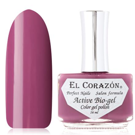 El Corazon, Активный Биогель Cream, №423/314El Corazon <br>Лак для ногтей (16 мл) приглушенный фиолетово-бордовый,  без пеламутра и блесток, плотный.<br><br>Цвет: Фиолетовый<br>Объем мл: 16.00