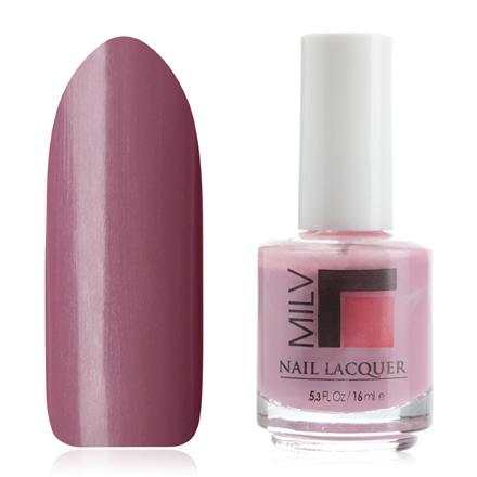 Milv, Лак для ногтей № 14Milv<br>Лак для ногтей (16 мл), сиренево-розовый, без блесток и перламутра, плотный