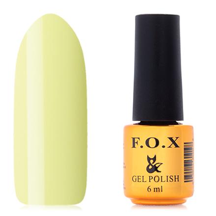 FOX, Гель-лак Pigment №204F.O.X<br>Гель-лак (6 мл) пастельный желтый, без перламутра и блесток, плотный.<br><br>Цвет: Зеленый<br>Объем мл: 6.00