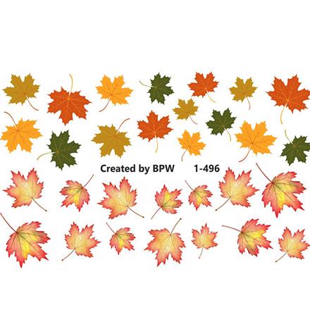 Купить BPW.Style, Слайдер-дизайн «Кленовые листья» №1-496
