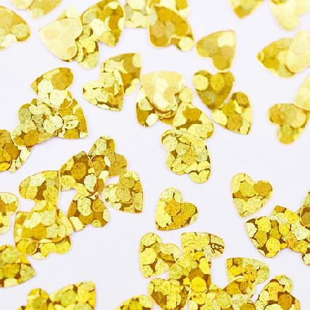 Patrisa Nail, Камифубуки «Сердечки» №К89, голографияКамифубуки<br>Камифубуки для дизайна ногтей (5 г). Цвет: золотой.