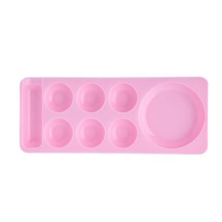 TNL, Палитра для красок, узкая с ячейками, розовая