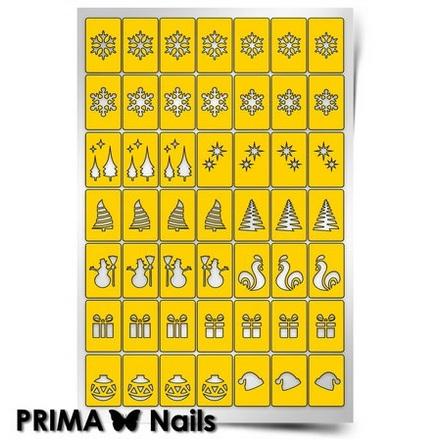 Prima Nails, Трафарет для дизайна ногтей Новогоднее чудо