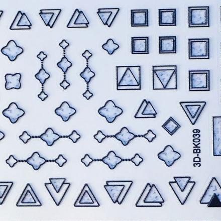 Anna Tkacheva, 3D-стикер №039 «Геометрия. Фигуры», черный фото
