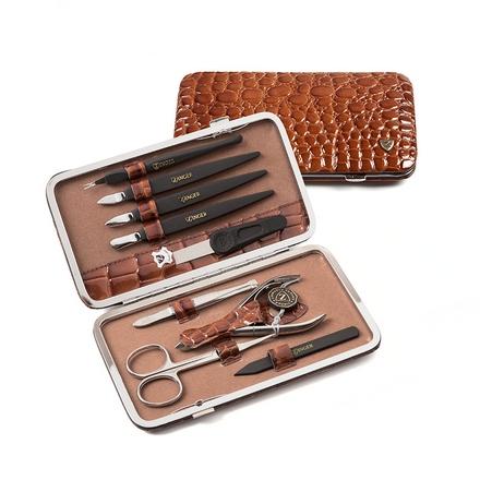 Zinger, Маникюрный набор, MS-101-S, коричневый