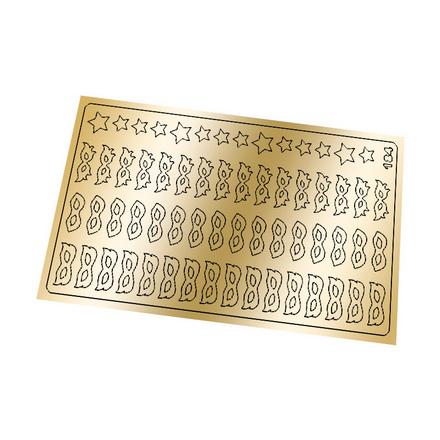 Freedecor, Металлизированные наклейки №184, золото фото