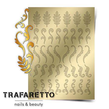 Купить Trafaretto, Металлизированные наклейки FL-03, золото