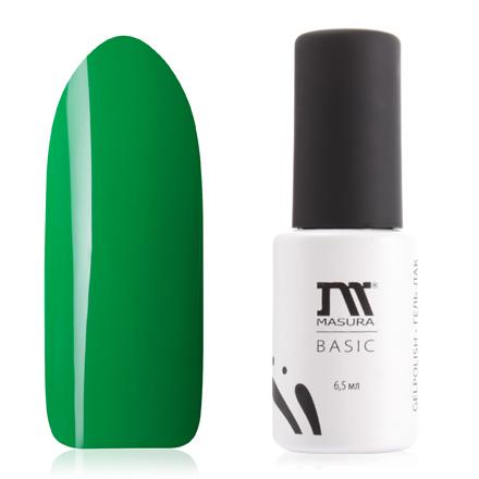 Masura, Гель-лак Basic №294-84, Внутри изумрудаMasura трехфазный шеллак<br>Гель-лак (6,5 мл) насыщенный темно-зеленый, без блесток и перламутра, плотный.<br><br>Цвет: Зеленый<br>Объем мл: 6.50