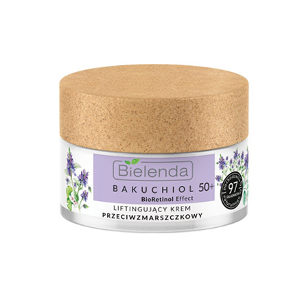 Купить Bielenda, Лифтинг-крем для лица Bakuchiol Bio Retinol 50+, 50 мл