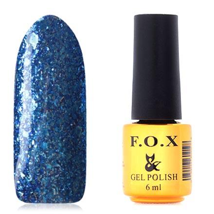 FOX, Гель-лак Brilliance №020F.O.X<br>Гель-лак (6 мл) ярко-синий, с серебристой фольгой, плотный.<br><br>Цвет: Синий<br>Объем мл: 6.00