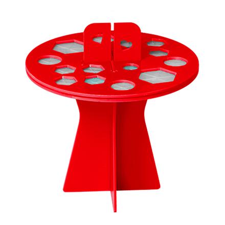 Купить IRISK, Подставка-органайзер для сушки кистей, 16 ячеек, красная