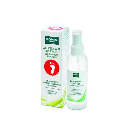 Domix, Дезодорант для ног «Domix Green», 150 млДезодорирующие средства<br>Спрей для ног от избыточной потливости. Эффективен при интенсивных нагрузках.<br><br>Объем мл: 150.00